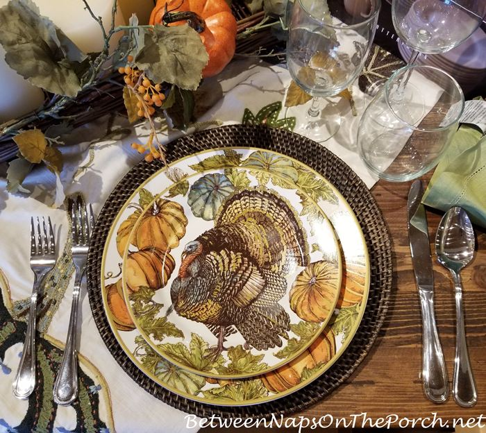 Turkey Dinnerware, Autumn, Fall, Thanksgiving Dining
