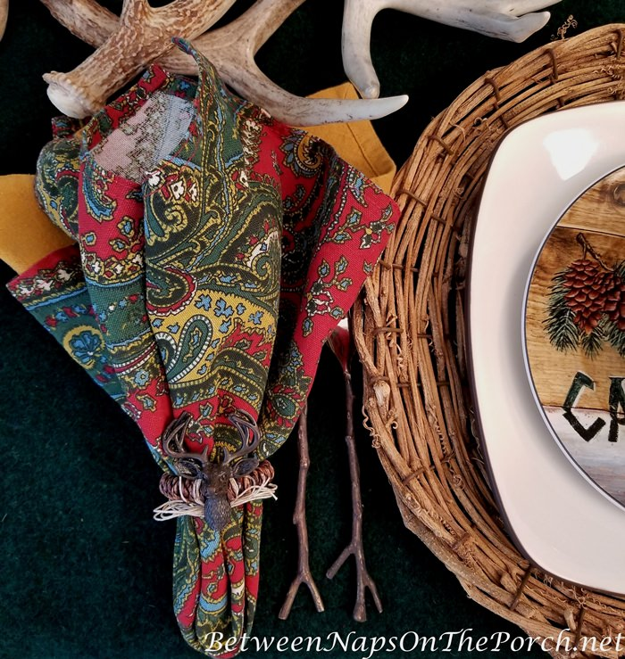 Twig Flatware for a Hunt, Cabin, Lodge Themed Table Setting