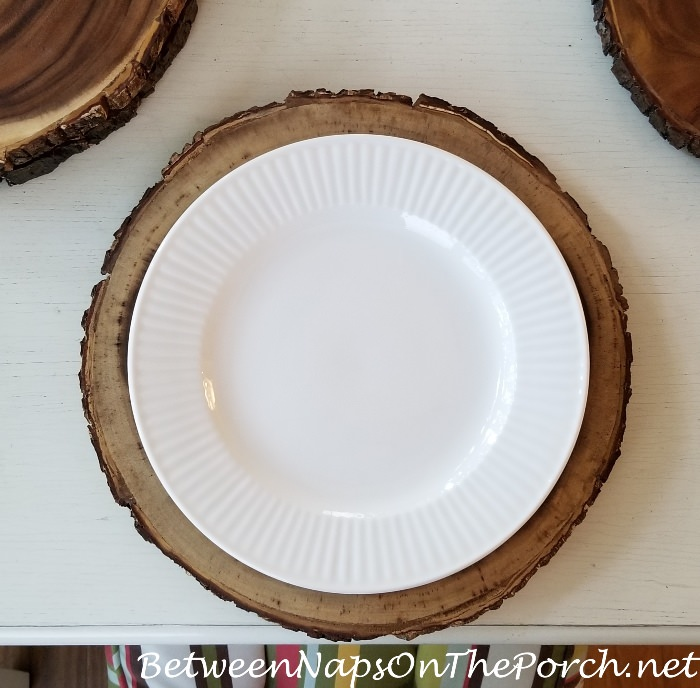 Bark Edged Wood Charger