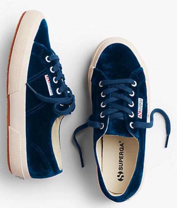 Blue Velvet Superga Sneakers