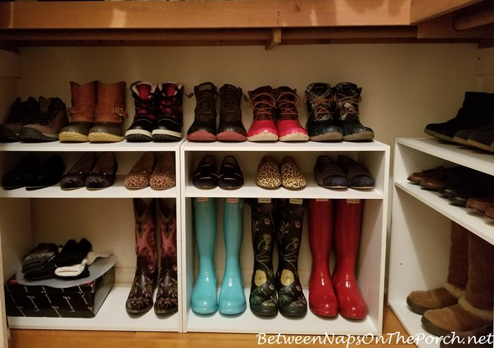 A Closet Update Boot Amp Shoe Storage Solution