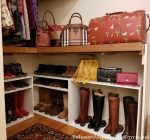 A Closet Update: Hacking Shelves for Boot & Shoe Storage