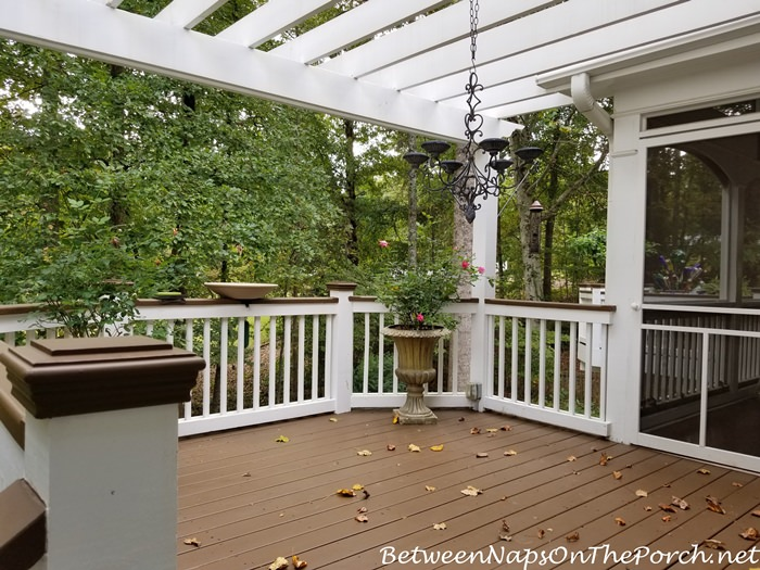 Deck Makeover, Lodge Brown Stain from Sherwin Williams