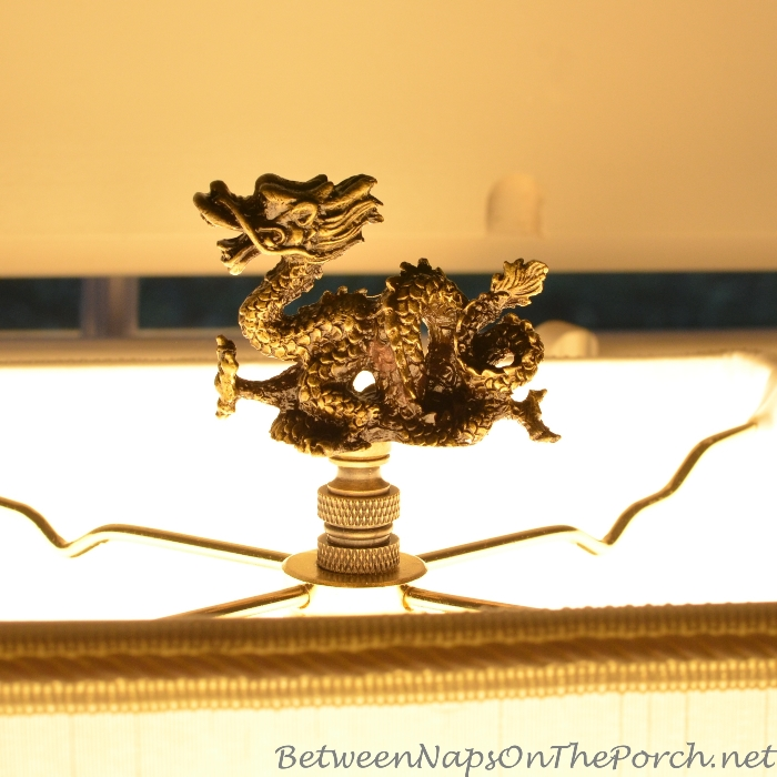 Dragon Finial for Castle Lamp