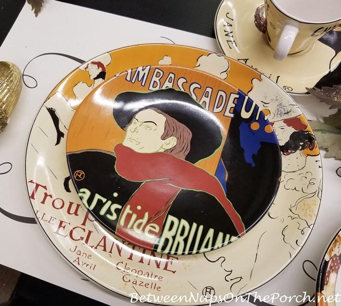 French Moulin Rouge, Sango Cabaret Salad or Dessert Plates