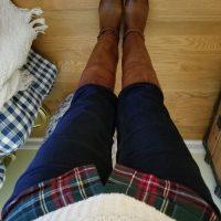 Frye Boots, Jeans, L.L. Bean Plaid Shirt, L.L. Fisherman Sweater