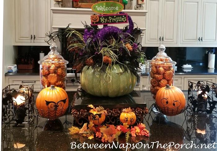 Halloween Centerpiece for Kitchen Island