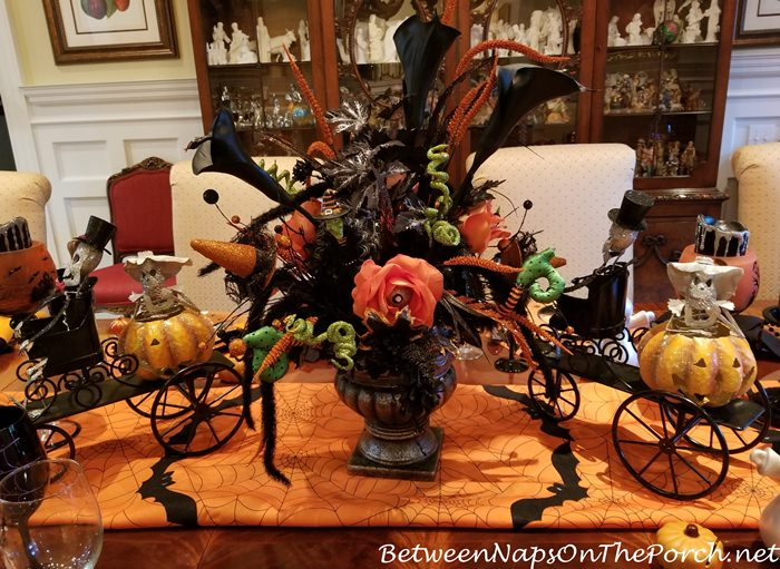 Halloween Centerpiece for Table Setting