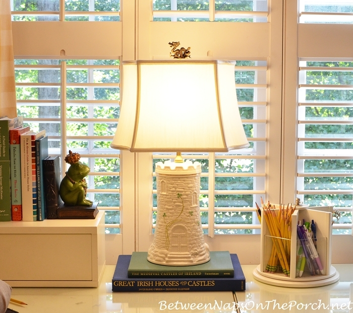Lamp Makeover, New Shade, Neck & Finial