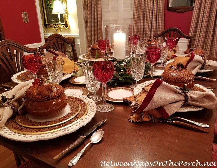 Noritake Xavier Gold in Autumn Fall Holiday Table