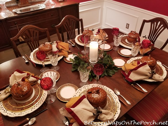 Noritake Xavier Gold in Fall Holiday Table Setting