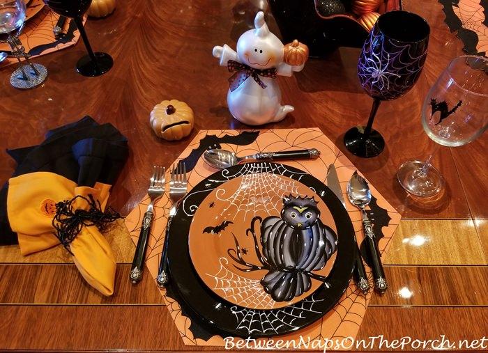 Owl Halloween Plate