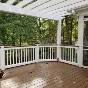 Paint a Railing Brown for Easier Maintenance
