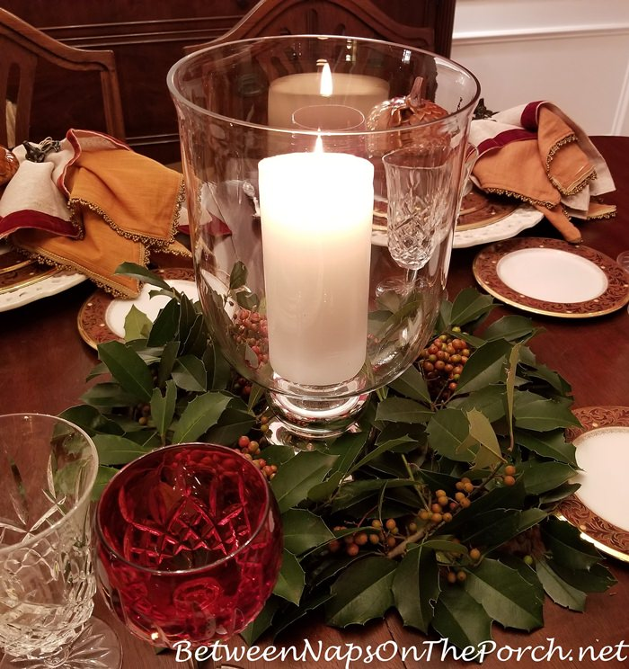 Savannah Holly Candlelight Table Centerpiece
