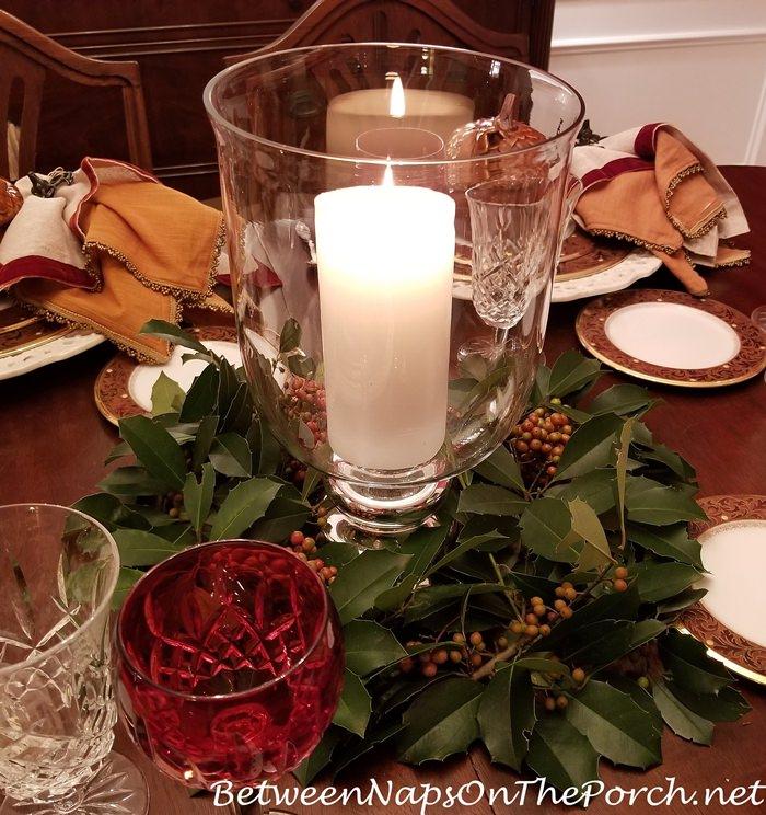 Savannah Holly Candlelight Table Centerpiece