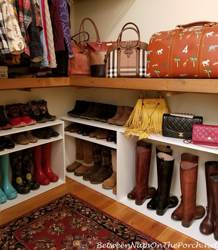 Shelves for Shoe and Boot Storage