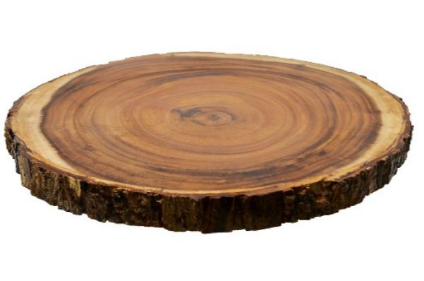 Wood Charger, Bark Edging