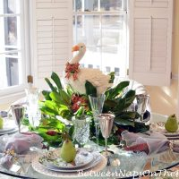 12 Days of Christmas Table with Goose & Magnolia Centerpiece