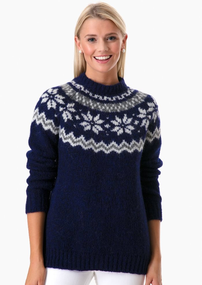 Barbour Fair Isle Sweater, Harriet Chunky Crew