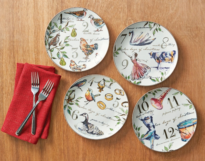 Better Homes U0026 Gardens 12 Days Of Christmas Salad Plates