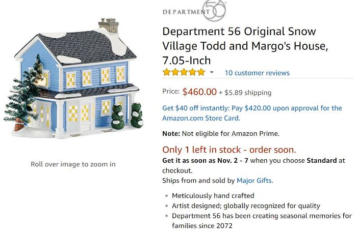 Department 56, Todd & Margo's House, Christmas Vacation