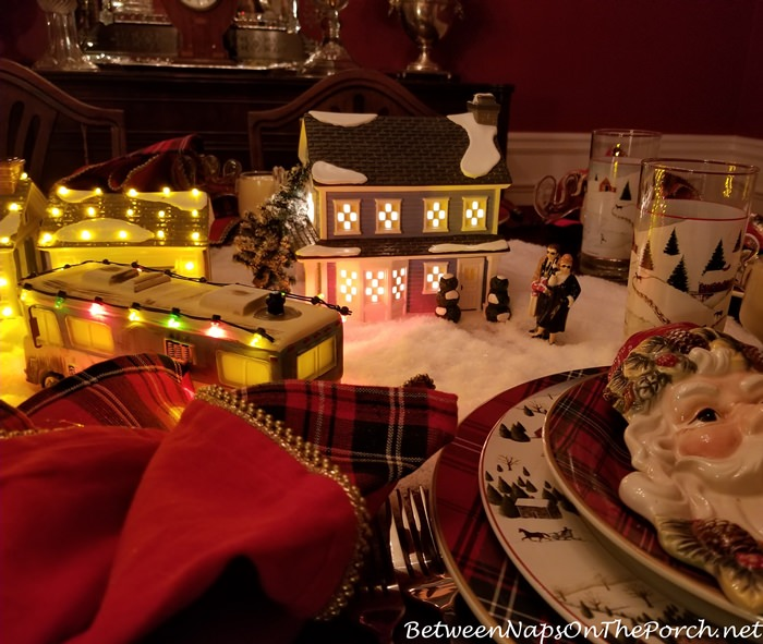 Dept. 56 Todd and Margo's Home, Lit for Christmas Table Setting
