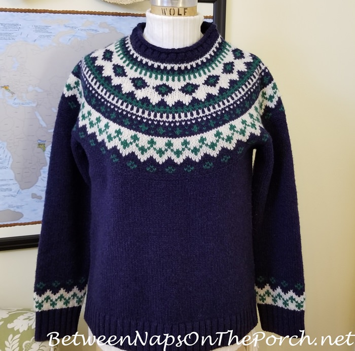 Fair Isle Sweater, L.L. Bean with Sundance Legends Ribbed Turtleneck