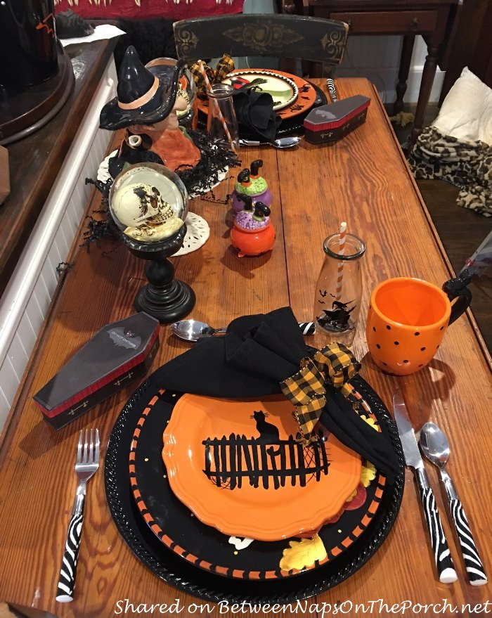 Halloween Plates in Orange and Black