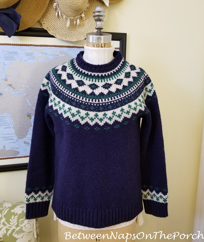 L.L. Bean Fair Isle Sweater with Sundance Legends Ribbed Turtleneck