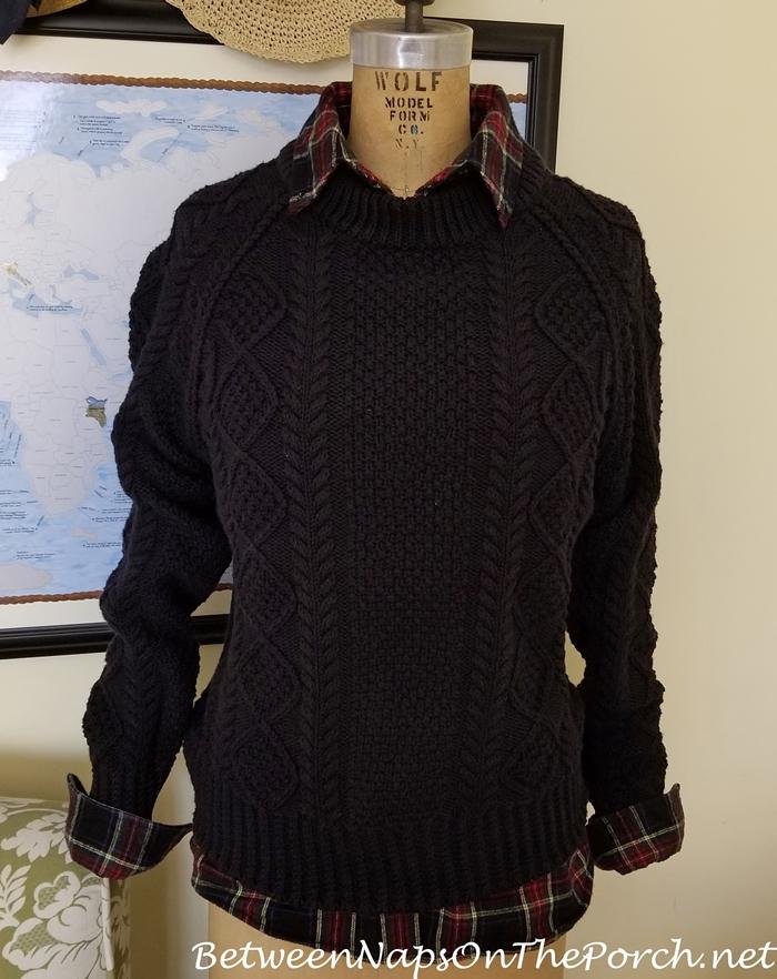 L.L. Bean Fisherman Sweater Black-Slate