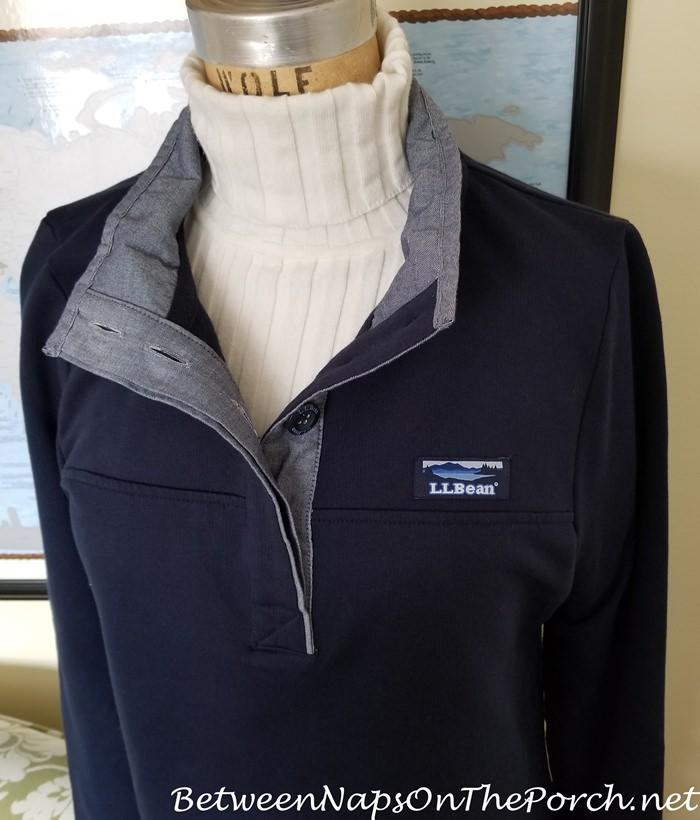 L.L. Bean Navy Sweater