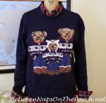 Bears in Sweaters and A Winter Sweater Wardrobe Metamorphosis!