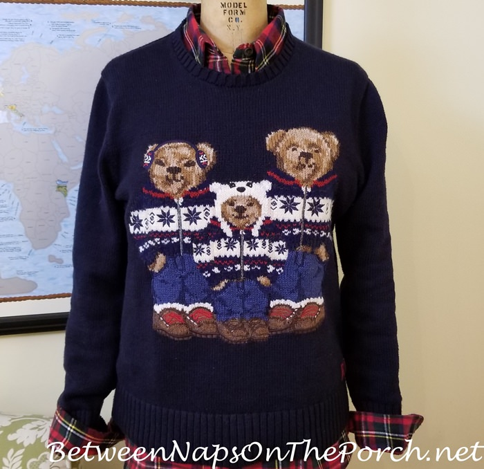 Ralph Lauren Polo Bear Sweater & Prince Charles Edward Tartan Flannel Shirt