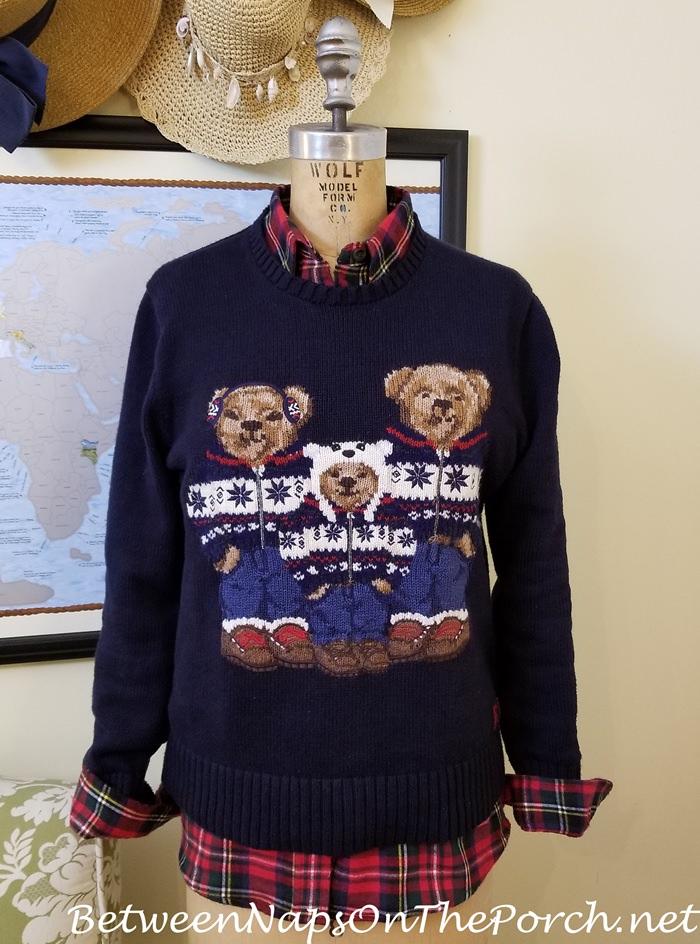 Ralph Lauren Polo Bear Sweater, Prince Charles Edward Tartan Flannel Shirt