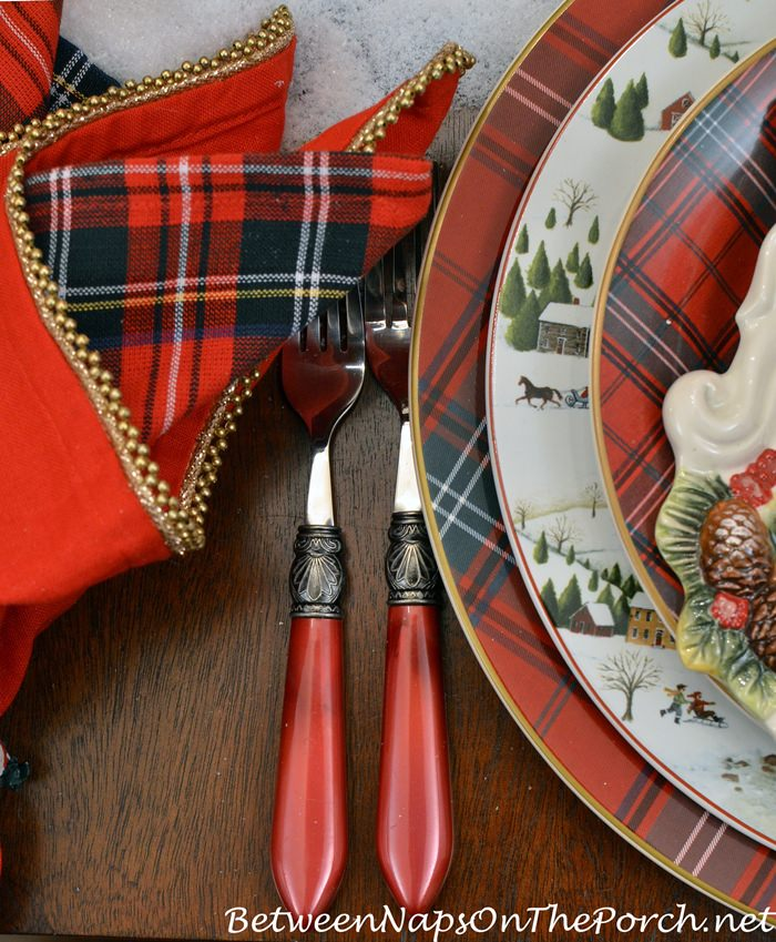 Red Flatware for Christmas