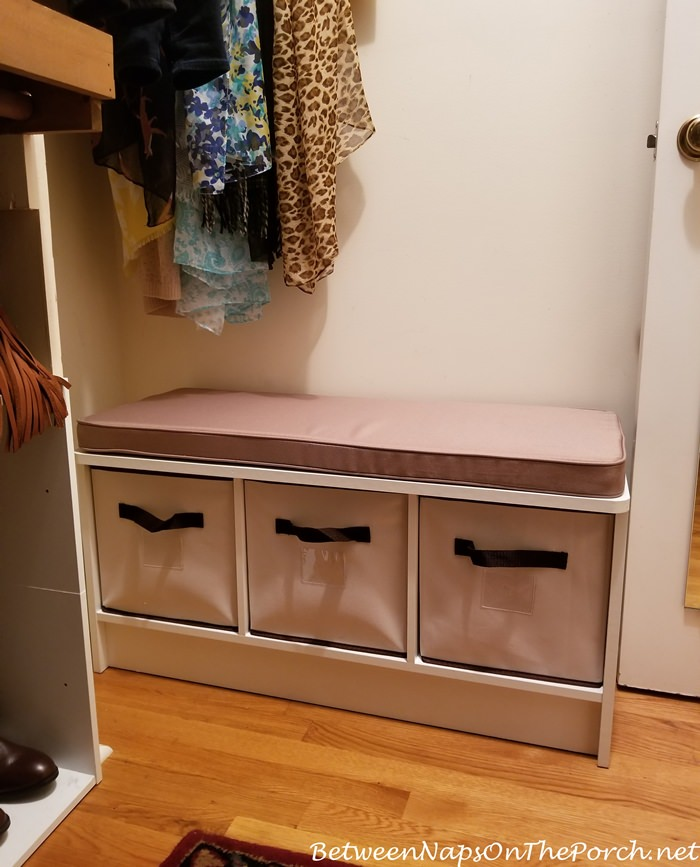 Small Bench for a Small Closet