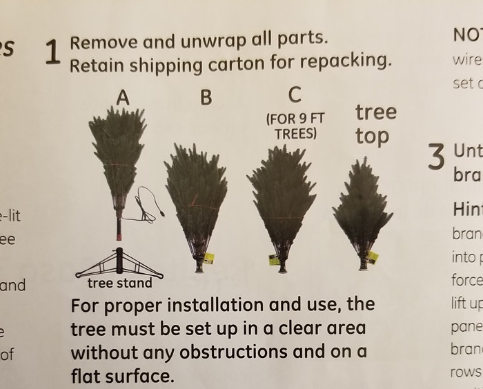 Tree Assembly Info. Canadian Tree from Home Depot