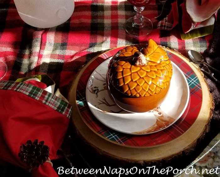 Acorn Tureens for Christmas Table