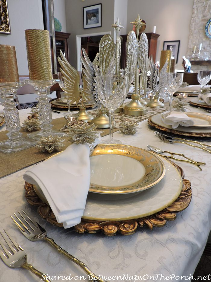 Angel-Themed Table Setting for Christmas