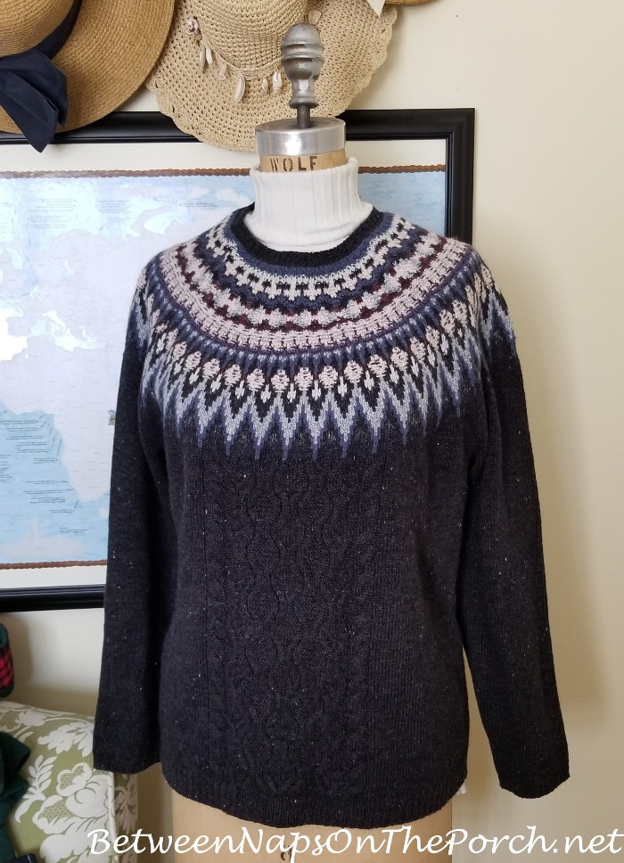 Blue Fair Isle Sweater