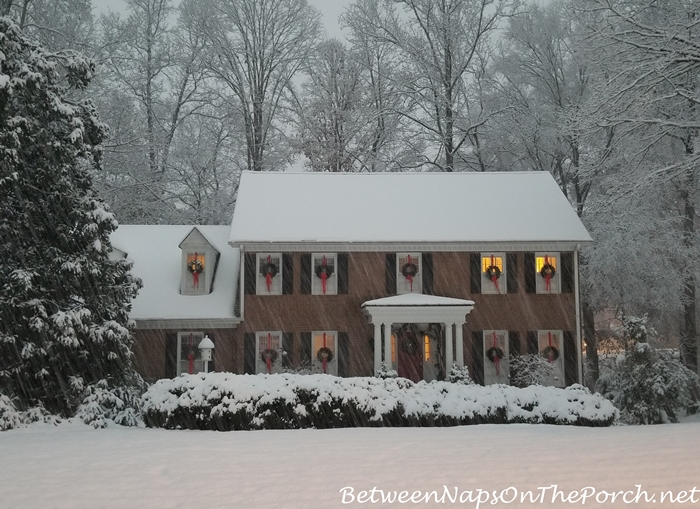 Christmas House in Snow