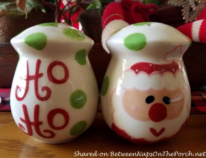 Christmas Table Salt, Pepper Shakers