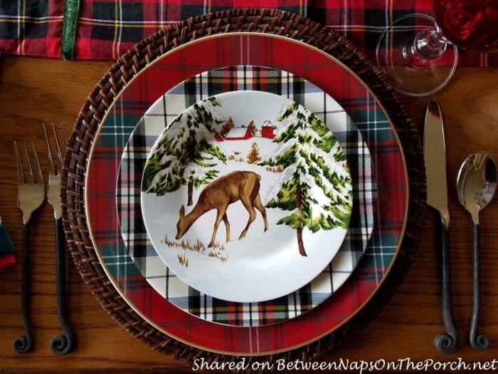 Christmas Table Williams Sonoma Heritage Tartan Plaid & Denver Plaid Plates