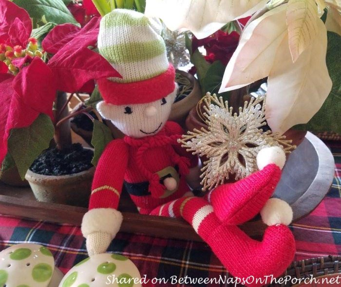 Elf in Christmas Centerpiece