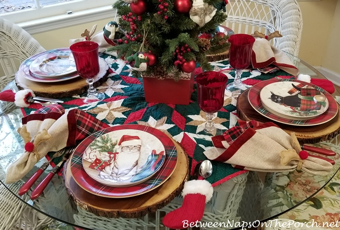 Christmas Tablescape for Cat Lovers