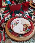 A Christmas Table Setting for Cat Lovers
