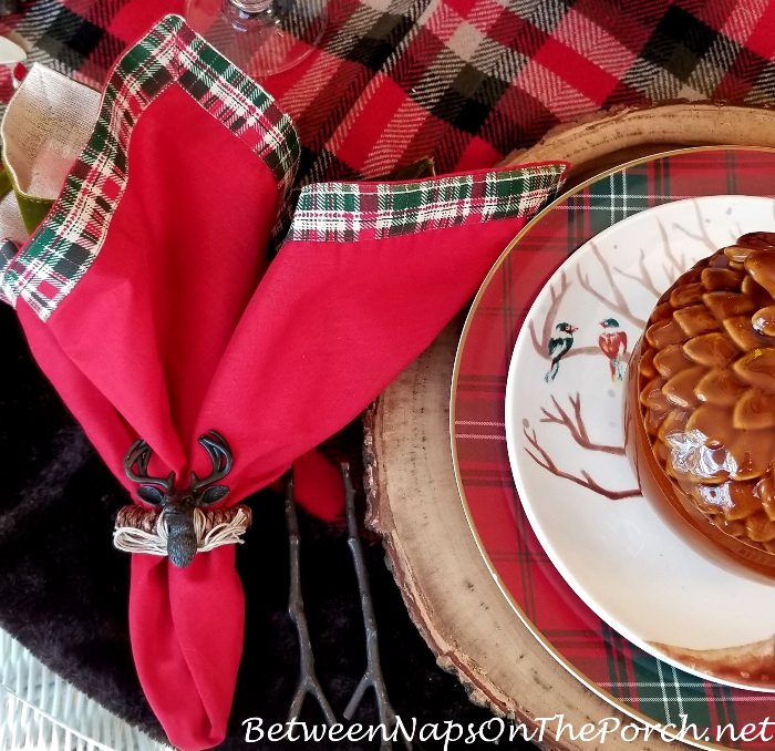 Deer Napkin Ring, Christmas Table Setting