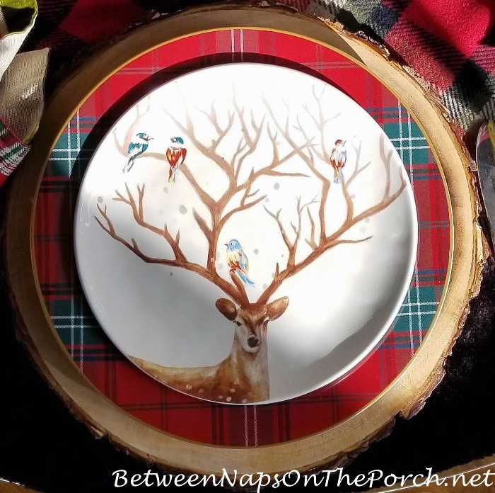 Deer with Birds on Antlers Plate