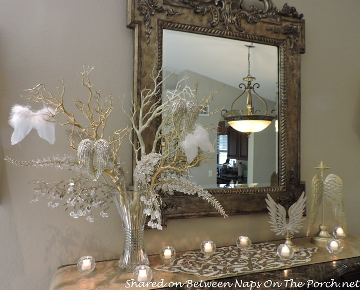 Dining Room Sideboard with Angel Wing Tree