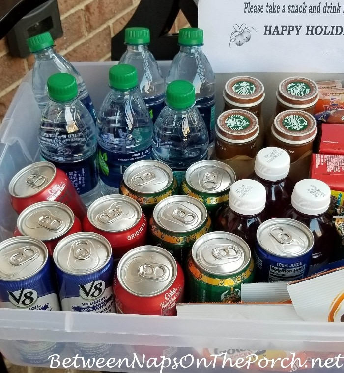 Drinks for Package Delivery Drivers During the Holidays
